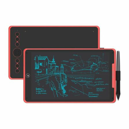 HUION - Huion Inspiroy Ink H320M Coral Red Graphics Drawing Tablet
