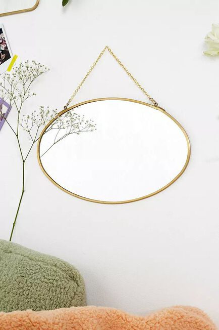 Urban Outfitters - GOLD Large Oval Mirror