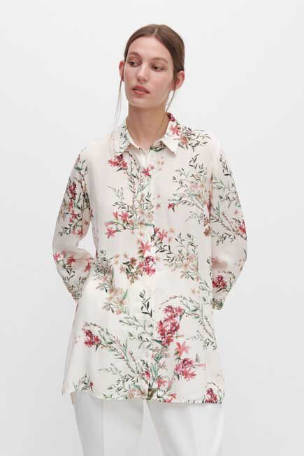 Reserved - Ivory Floral shirt