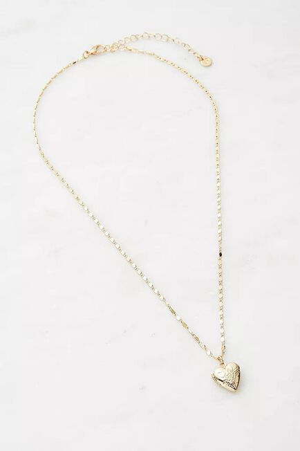 Urban Outfitters - Gold-Tone Heart Locket Necklace