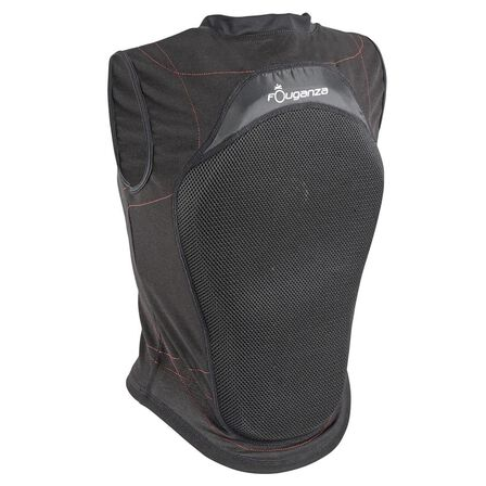 FOUGANZA - 12-14 Years  Adult and Children's Flexible Horse Riding Back Protector - Black, Default