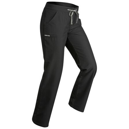 QUECHUA - W33 L31 Women's Warm Hiking Trousers Sh100 Ultra-Warm - Black