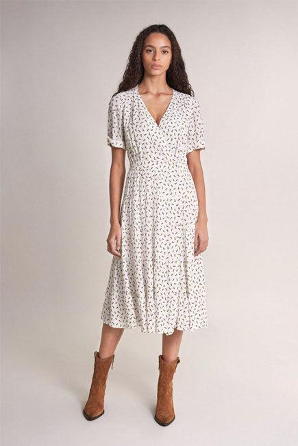 Salsa Jeans - Beige Allover floral print dress