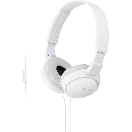 SONY - Sony Mdrzx110Ap Extra Bass W/Mic White Headphones