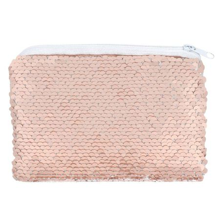 SOMETHING DIFFERENT - Something Different Pink and White Reversible Sequin Purse