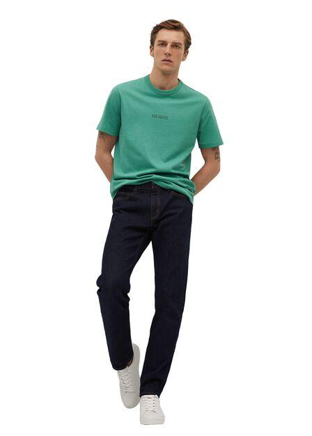 Mango - medium blue Message organic cotton t-shirt