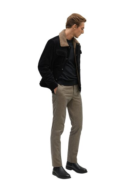 Mango - light beige Slim-fit cotton trousers