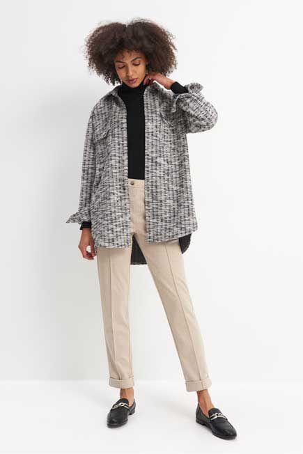 Mohito -  Jersey Cigarette Trousers - Beige