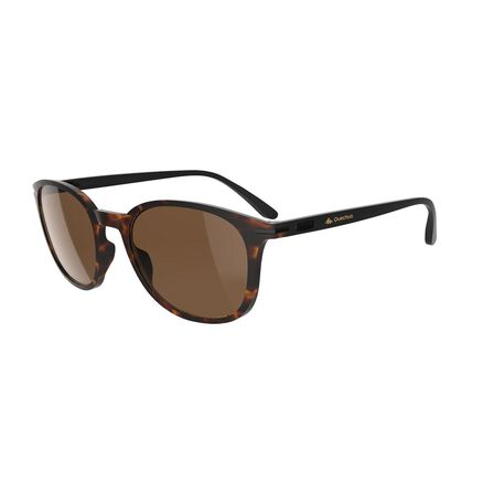 QUECHUA - Unique Size  Category 3 Hiking Sunglasses MH160 - Brown and, Ebony