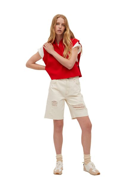 Mango - red Gilet with side opening, Women