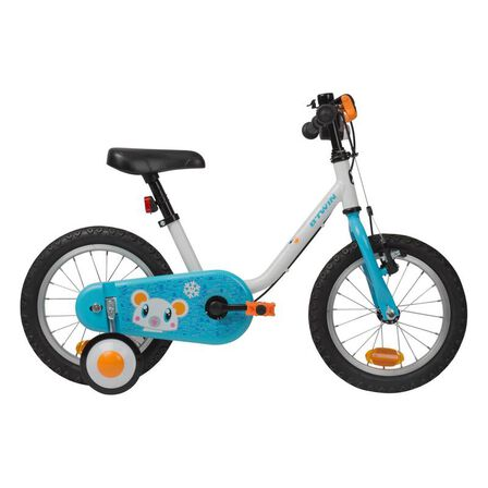 B TWIN - Kids' 14-inch bike 100 (3-4.5 years) - arctic