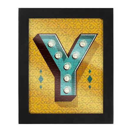 RIDLEYS - Ridleys Alphabet Jigsaw Puzzle with Frame Letter Y