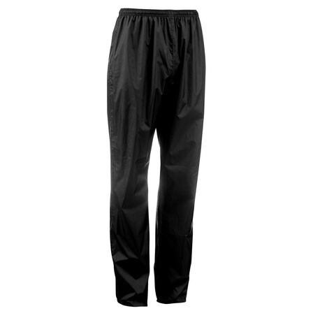 QUECHUA - Nh500 protect men's country walking waterproof over-trousers - black, W41 L34