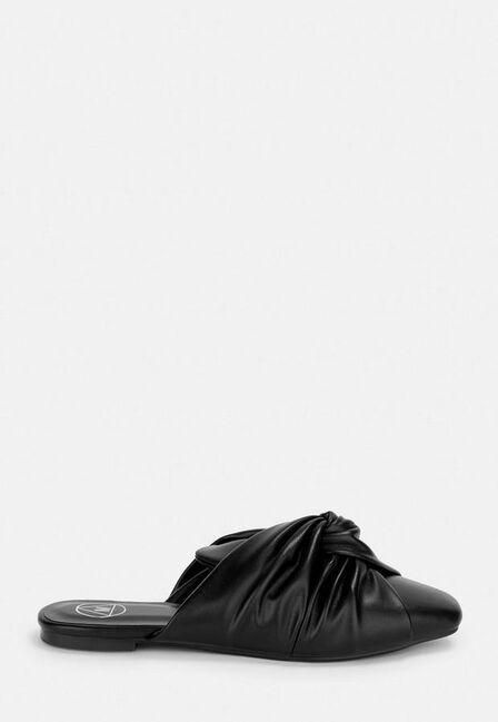 Missguided - Black Black Knot Slip On Shoes
