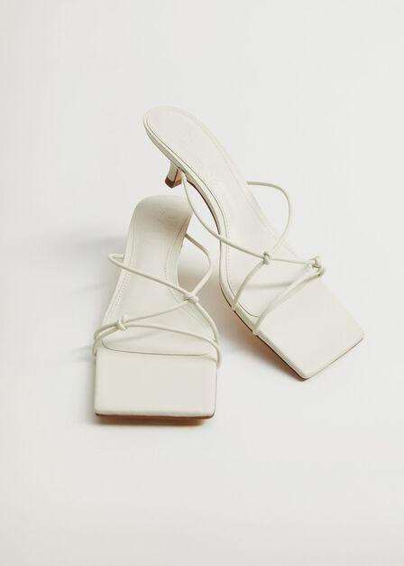 Mango - natural white Knots heel sandals