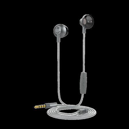 MUVIT - Muvit M1B 3.5mm Steel Dark Grey In-Ear Earphones with Mic