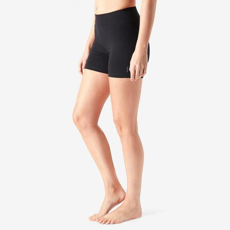 NYAMBA - Extra Small  Cotton Fitness Shorts Fit+ - Black, Black