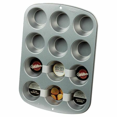 WILTON BRANDS INC. - Wilton Recipe Right Muffin Pans Cups [Set of 12]