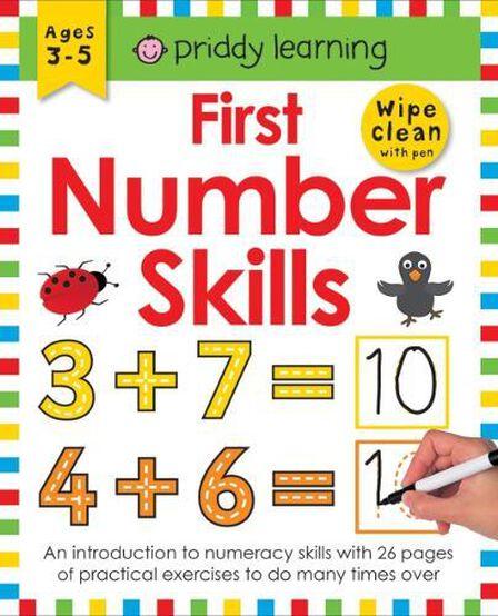 PRIDDY BOOKS UK - First Number Skills Wipe Clean Workbooks