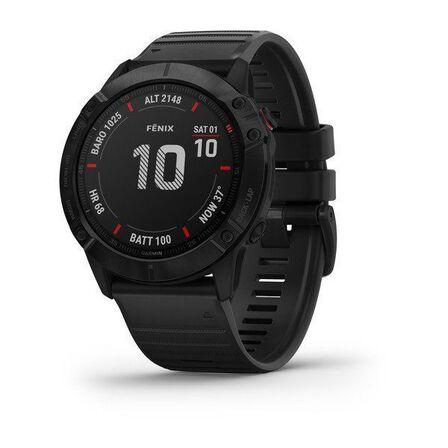 GARMIN - Garmin Fenix 6X Pro 51mm Black with Black Band Smart Watch