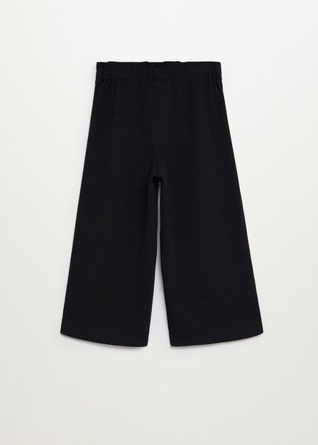 Mango - black Knitted culotte trousers