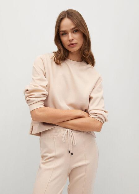 Mango - lt pastel brown Basic sweatshirt