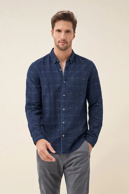 Salsa Jeans - Green Slim fit checked shirt