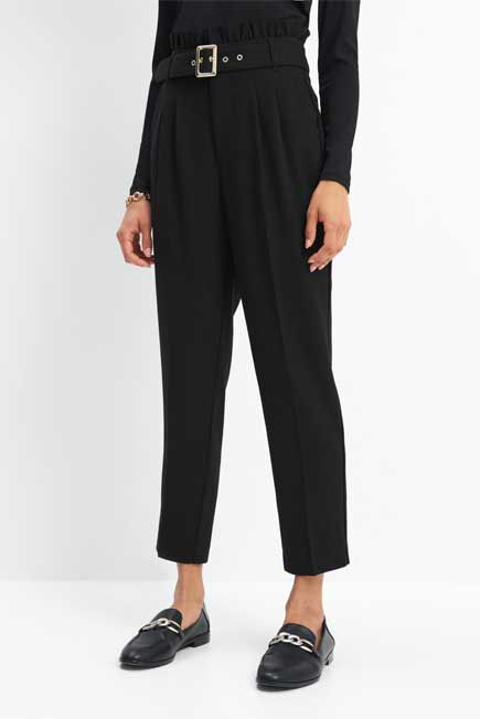 Mohito -  Paperbag Design Trousers - Black