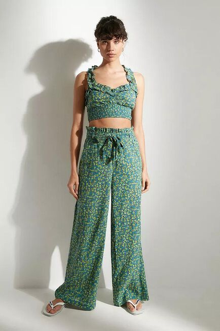 Urban Outfitters - GRN Out From Under Rita Floral Frill Trousers