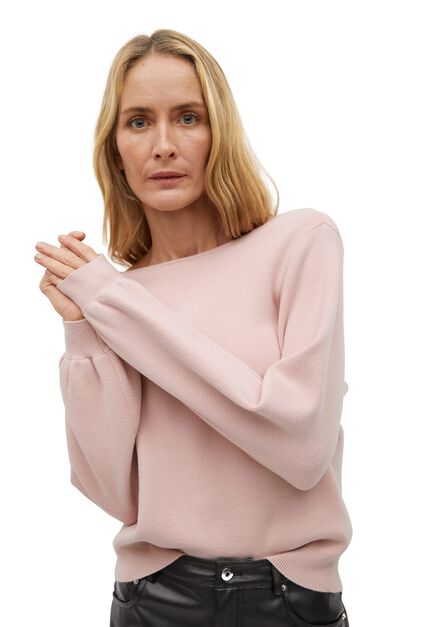 Mango - Pastel Pink Open Back Sweater
