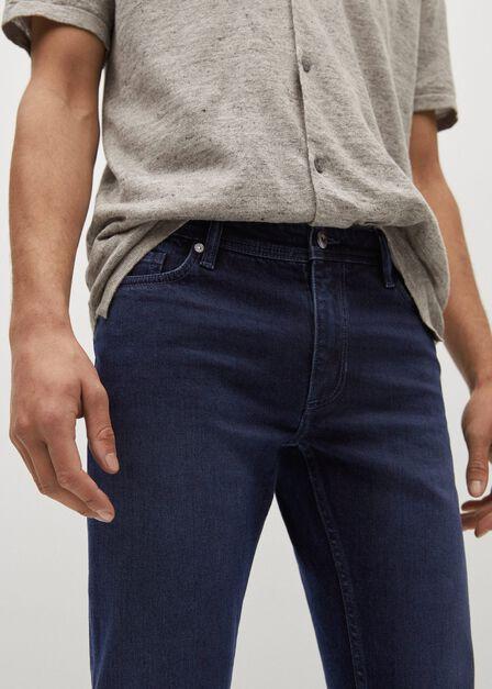 Mango - open blue Slim-fit dark Jan jeans, Men