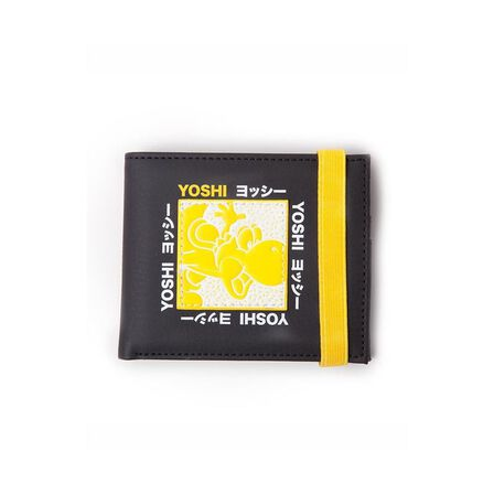 DIFUZED - Nintendo Super Mario Festival Yoshi Bifold Wallet Black