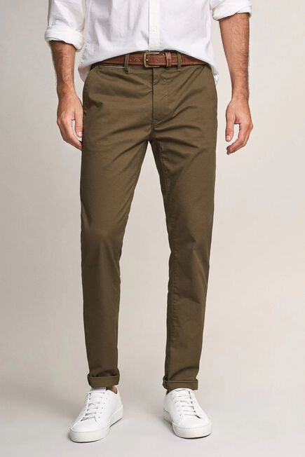 Salsa Jeans - Green Andy slim trousers with microprint