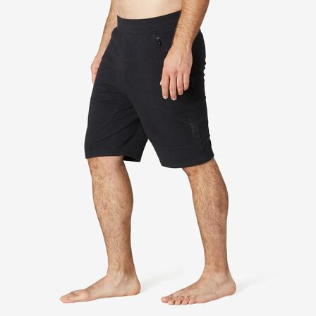 NYAMBA - Large  Men's Long Sport Slim-Fit Shorts 900 - Black, Black