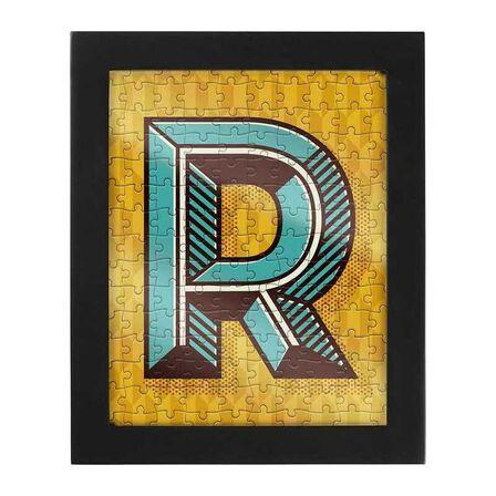 RIDLEYS - Ridleys Alphabet Jigsaw Puzzle with Frame Letter R