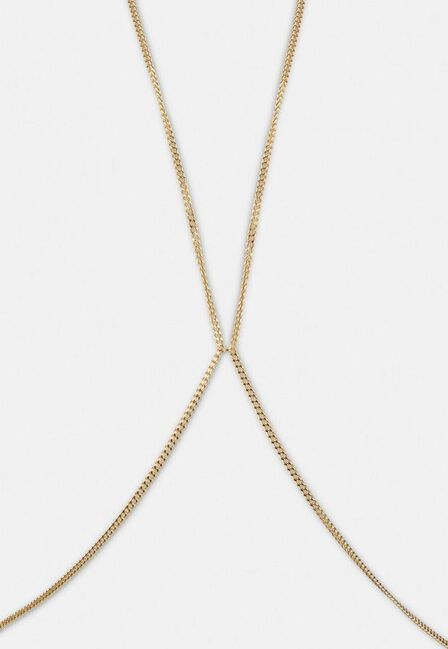 Missguided - Gold Gold Look Curb Chain Bodychain