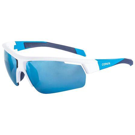 COPAYA - Unique Size  BVSG500 Beach Volleyball Glasses - Blue/White/Black, Cyan