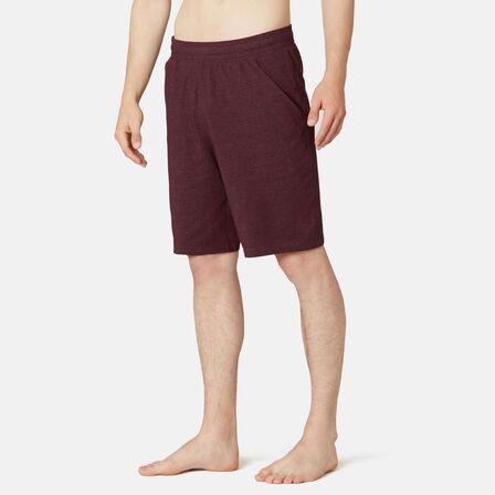 NYAMBA - Small  Fitness Long Stretch Cotton Shorts, Bordeaux