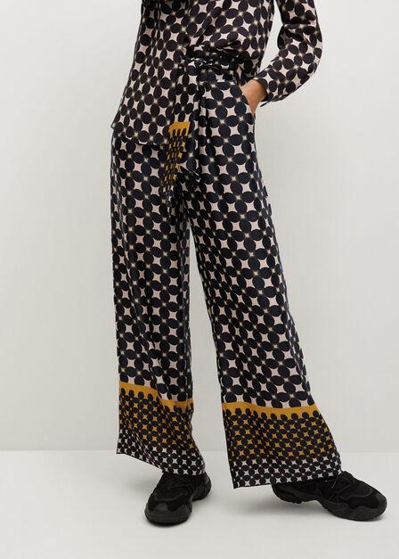 Mango - black Geometric print trousers