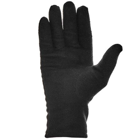 QUECHUA - Adult mountain trekking fleece liner gloves trek 100 - black