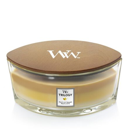 WOOD WICK - Woodwick Candle Trilogy Ellipse Jar Fruits Of Summer