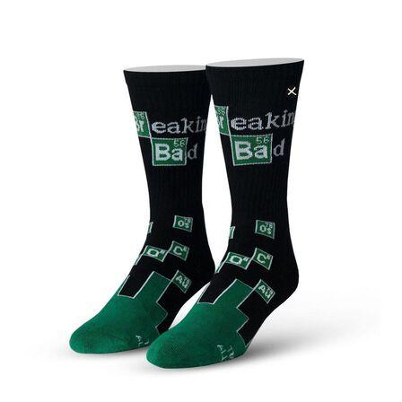 ODD SOX - Odd Sox Breaking Bad Chemistry Knit Men's Socks [Size 6-13]