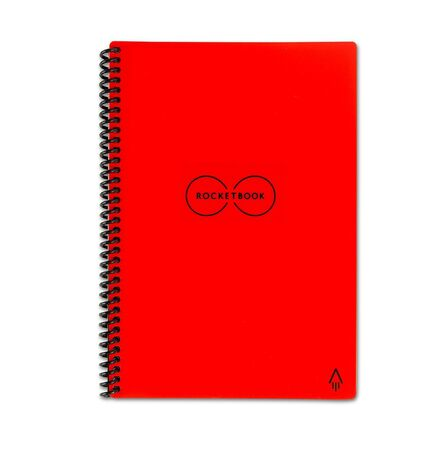 ROCKETBOOK - Rocketbook Everlast Executive Smart Notebook Red [6 x 8.8 Inch]