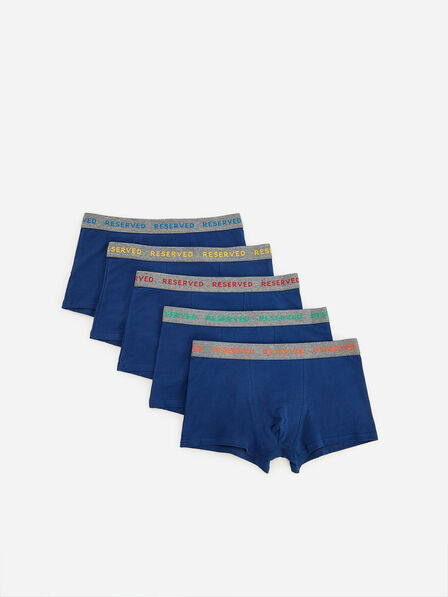 Reserved - Cotton rich boxers 5 pack - Navy