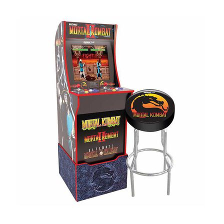 ARCADE 1UP - Arcade 1Up Mortal Kombat with Light-Up Marquee/Stool/Riser