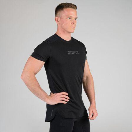 DOMYOS - M Weight Training Chest Day T-Shirt - Black