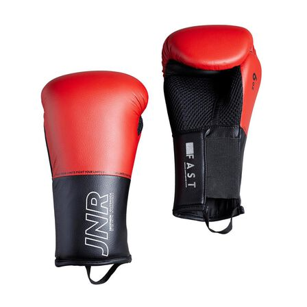 OUTSHOCK - 6 Oz  Kids' Boxing Gloves 100 - Red, Cherry Red