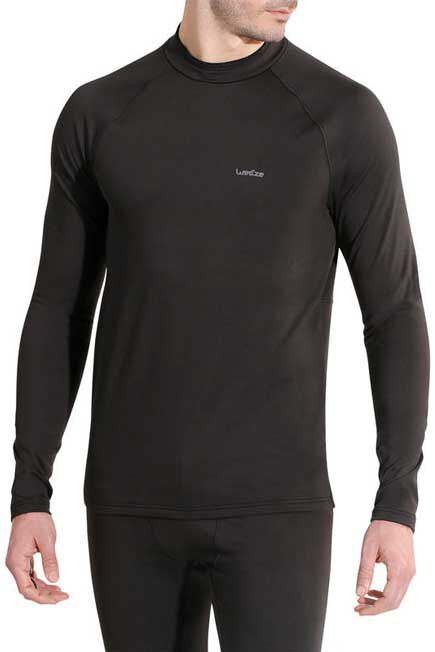WEDZE - Freshwarm Men's Ski Underwear Top - Black, S