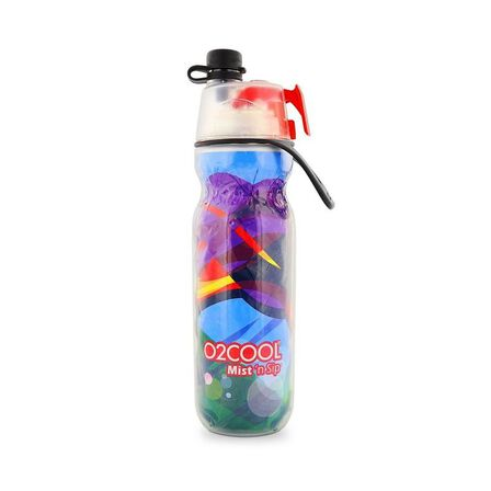 O2COOL - O2Cool Classic Elite Mist'N Sip Insulated Articsqueeze 20Oz Waves Collection Wave Pattern C