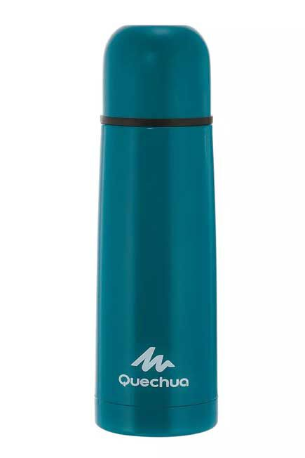 QUECHUA - Isothermal stainless steel hiking bottle 0.4 l - blue